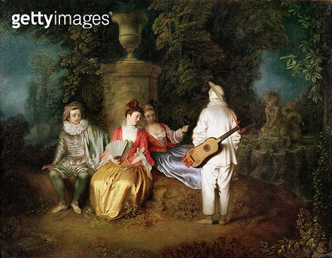 <b>Title</b> : The Foursome, c.1713 (oil on canvas)<br><b>Medium</b> : oil on canvas<br><b>Location</b> : Fine Arts Museums of San Francisco, CA, USA<br> - gettyimageskorea