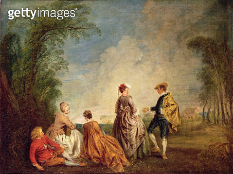 <b>Title</b> : An Embarrassing Proposal, 1715-16 (oil on canvas)<br><b>Medium</b> : oil on canvas<br><b>Location</b> : Hermitage, St. Petersburg, Russia<br> - gettyimageskorea