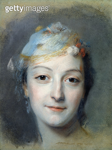 <b>Title</b> : Portrait of Marie Fel (1713-78) 1757 (pastel on paper)<br><b>Medium</b> : pastel on paper<br><b>Location</b> : Musee Antoine Lecuyer, Saint-Quentin, France<br> - gettyimageskorea