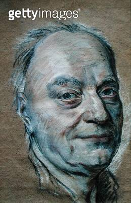 <b>Title</b> : Portrait of Prosper Jolyot de Crebillon (1674-1762) 1761 (pastel on paper)<br><b>Medium</b> : pastel on paper<br><b>Location</b> : Musee Antoine Lecuyer, Saint-Quentin, France<br> - gettyimageskorea