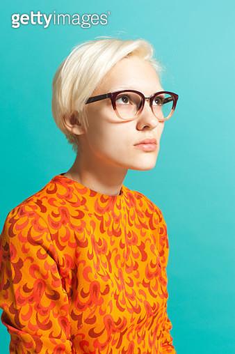 Girl wearing glasses - gettyimageskorea