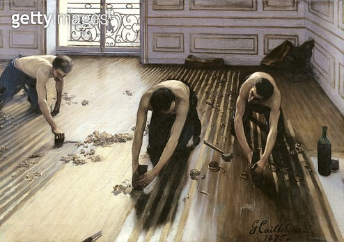 <b>Title</b> : The Parquet Planers, 1875 (oil on canvas)<br><b>Medium</b> : oil on canvas<br><b>Location</b> : Musee d'Orsay, Paris, France<br> - gettyimageskorea