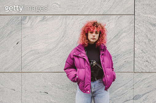 Girl with curly red hair - gettyimageskorea