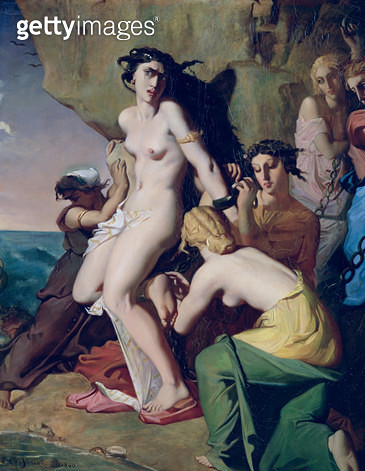 <b>Title</b> : Andromeda Tied to the Rock by the Nereids, 1840 (oil on canvas)<br><b>Medium</b> : oil on canvas<br><b>Location</b> : Louvre, Paris, France<br> - gettyimageskorea