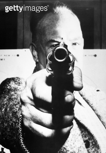 MAN AIMING REVOLVER AT YOU. /nAmerican photograph, mid-20th century. - gettyimageskorea