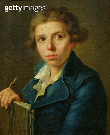 <b>Title</b> : Portrait of Jacques-Louis David (1748-1825) as a Youth (oil on canvas)<br><b>Medium</b> : oil on canvas<br><b>Location</b> : Musee des Beaux-Arts, Angers, France<br> - gettyimageskorea