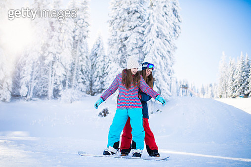Snowboarding lesson - gettyimageskorea
