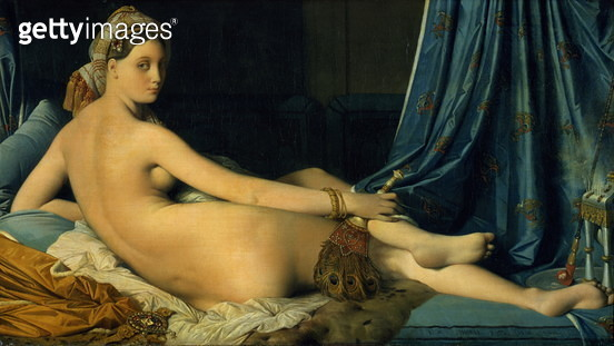 The Grande Odalisque, 1814 (oil on canvas) - gettyimageskorea