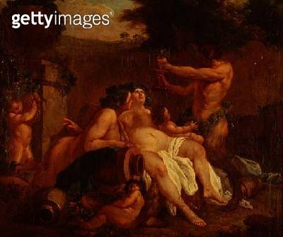 Bacchus Merrymaking by a Stone Urn in a Dell - gettyimageskorea