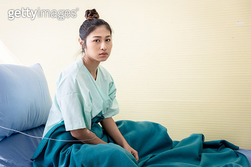 Patient with illness in hospital room and worry - gettyimageskorea