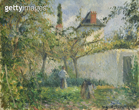 <b>Title</b> : Kitchen Garden and Orchard, Pontoise, 1878 (oil on canvas)<br><b>Medium</b> : oil on canvas<br><b>Location</b> : Private Collection<br> - gettyimageskorea