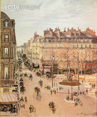 <b>Title</b> : Rue Saint-Honore, Sun Effect, Afternoon, 1898 (oil on canvas)<br><b>Medium</b> : oil on canvas<br><b>Location</b> : Private Collection<br> - gettyimageskorea