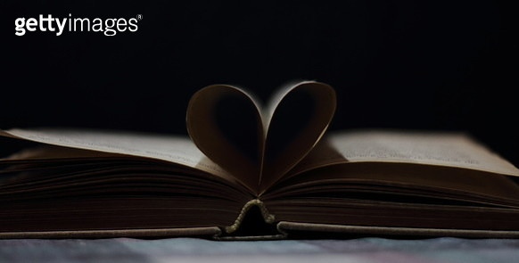 Close-Up Of Heart Shape On Book - gettyimageskorea