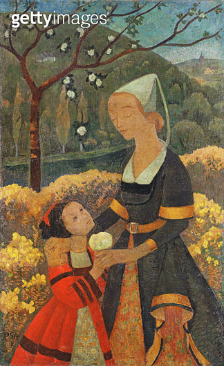 <b>Title</b> : The Lady of Kerbrau, 1918 (oil on canvas)<br><b>Medium</b> : oil on canvas<br><b>Location</b> : Private Collection<br> - gettyimageskorea