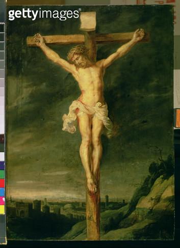 <b>Title</b> : The Crucifixion (oil on canvas)<br><b>Medium</b> : oil on canvas<br><b>Location</b> : Ciurlionis State Art Museum, Kaunas, Lithuania<br> - gettyimageskorea