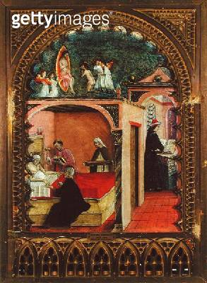 <b>Title</b> : St. Jerome in his Cell and the Dream of St. Jerome, c.1450 (oil on panel)Additional InfoSaint Jerome dans sa cellule et le songe<br><b>Medium</b> : oil on panel<br><b>Location</b> : Pinacoteca di Brera, Milan, Italy<br> - gettyimageskorea