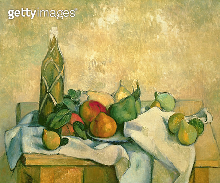 <b>Title</b> : Still Life with Bottle of Liqueur, 1888-90 (oil on canvas)<br><b>Medium</b> : oil on canvas<br><b>Location</b> : Private Collection<br> - gettyimageskorea