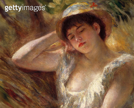 <b>Title</b> : The Sleeper, 1880 (oil on canvas)<br><b>Medium</b> : oil on canvas<br><b>Location</b> : Private Collection<br> - gettyimageskorea