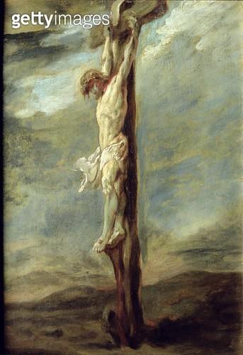 <b>Title</b> : Christ on the Cross (oil on canvas)<br><b>Medium</b> : <br><b>Location</b> : Musee Bonnat, Bayonne, France<br> - gettyimageskorea