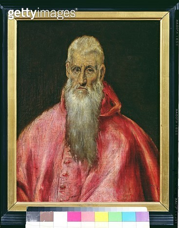 <b>Title</b> : St. Jerome (oil on canvas)Additional Infoformerly thought to be Cardinal Don Gaspar de Quiroga, first Grand Inquisitor;<br><b>Medium</b> : oil on canvas<br><b>Location</b> : Musee Bonnat, Bayonne, France<br> - gettyimageskorea