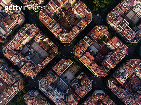 Aerial view of Barcelona - gettyimageskorea