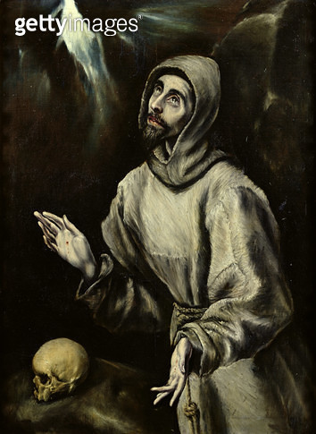 <b>Title</b> : St. Francis of Assisi Receiving the Stigmata, c.1595 (oil on canvas)Additional InfoSaint Francois d'Assise recevant les stigmate<br><b>Medium</b> : oil on canvas<br><b>Location</b> : Musee des Beaux-Arts, Pau, France<br> - gettyimageskorea
