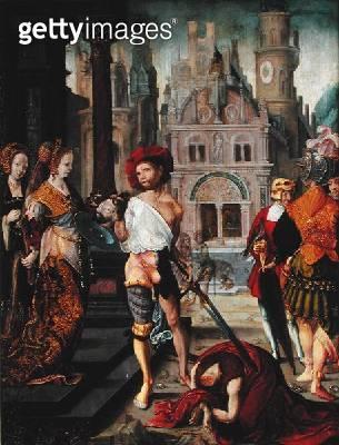 <b>Title</b> : The Beheading of St. John the Baptist, 1525 (oil on panel)<br><b>Medium</b> : oil on panel<br><b>Location</b> : Musee National de la Renaissance, Ecouen, France<br> - gettyimageskorea