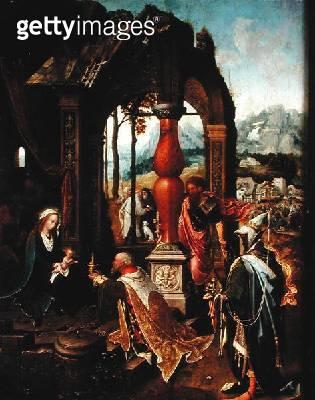 <b>Title</b> : Adoration of the Magi (oil on canvas)<br><b>Medium</b> : oil on canvas<br><b>Location</b> : Musee National de la Renaissance, Ecouen, France<br> - gettyimageskorea