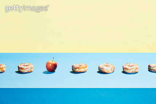The composition references a conveyor belt or production line - gettyimageskorea