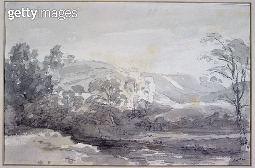 <b>Title</b> : A View in Derbyshire<br><b>Medium</b> : <br><b>Location</b> : Victoria & Albert Museum, London, UK<br> - gettyimageskorea