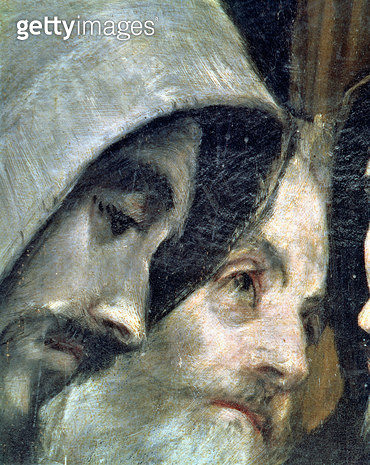 <b>Title</b> : The Burial of Count Orgaz, from a legend of 1323, detail of the franciscans, 1586-88 (oil on canvas) (detail of 44240)<br><b>Medium</b> : <br><b>Location</b> : Toledo, S.Tome, Spain<br> - gettyimageskorea