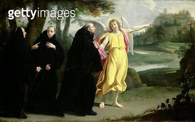<b>Title</b> : Scene from the Life of St. Benedict (oil on canvas)Additional InfoScene de la vie de Saint Benoit;<br><b>Medium</b> : <br><b>Location</b> : Musee de la Ville de Paris, Musee Carnavalet, Paris, France<br> - gettyimageskorea