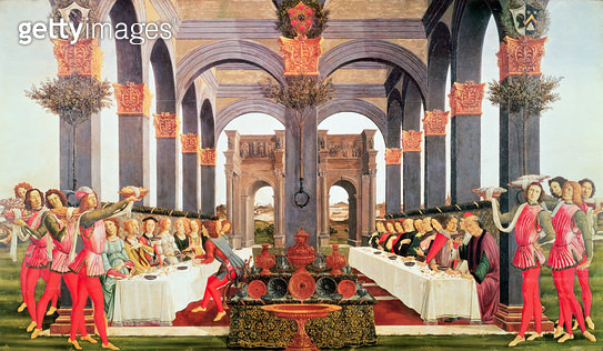 <b>Title</b> : The Wedding Feast<br><b>Medium</b> : oil on canvas<br><b>Location</b> : Private Collection<br> - gettyimageskorea