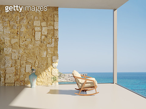 View of the sea from mediterranean villa - gettyimageskorea