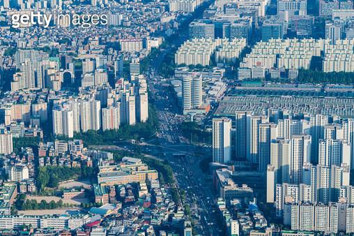 서울 송파 가락시장 사거리, 대한민국 서울특별시 - gettyimageskorea