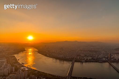 서울 일몰, 대한민국 서울특별시 - gettyimageskorea