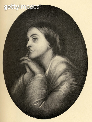 <b>Title</b> : Christina Georgina Rossetti (1830-94) illustration from 'Little Journeys to the Homes of Famous Women', published 1897 (litho)<br><b>Medium</b> : <br><b>Location</b> : Private Collection<br> - gettyimageskorea