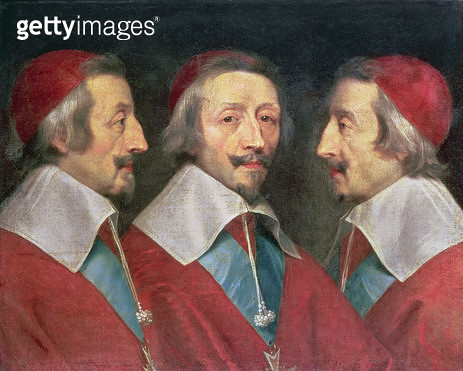 <b>Title</b> : Triple Portrait of the Head of Richelieu, 1642 (oil on canvas)<br><b>Medium</b> : oil on canvas<br><b>Location</b> : National Gallery, London, UK<br> - gettyimageskorea