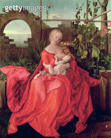 <b>Title</b> : Virgin and Child 'Madonna with the Iris', 1508 (tempera on panel)<br><b>Medium</b> : tempera on lime panel<br><b>Location</b> : National Gallery, London, UK<br> - gettyimageskorea