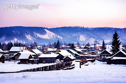 View of houses in Siberia, Russia. - gettyimageskorea