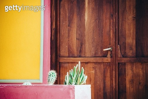 Colorful colonial facade in Cordoba, Argentina - gettyimageskorea