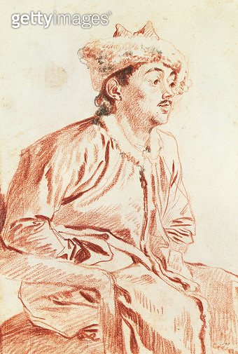 <b>Title</b> : Young Man in Oriental Costume (drawing)<br><b>Medium</b> : <br><b>Location</b> : Victoria & Albert Museum, London, UK<br> - gettyimageskorea