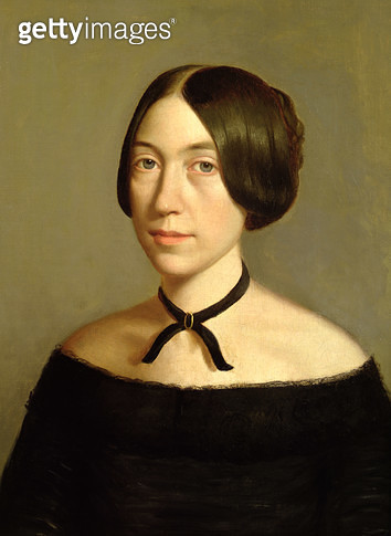 <b>Title</b> : Portrait of Madame Victor Mottez, c.1840 (oil on canvas)<br><b>Medium</b> : oil on canvas<br><b>Location</b> : Private Collection<br> - gettyimageskorea