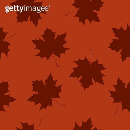 Autumn Leaf Pattern Silhouette - gettyimageskorea