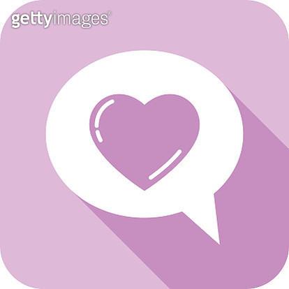 Lavender Heart Speech Bubble - gettyimageskorea