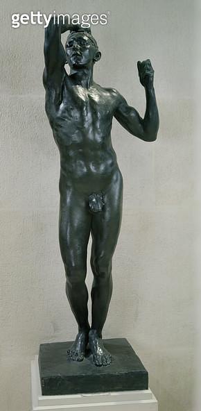 <b>Title</b> : The Age of Bronze (bronze)<br><b>Medium</b> : bronze<br><b>Location</b> : Louvre, Paris, France<br> - gettyimageskorea