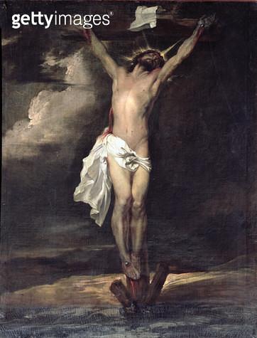 <b>Title</b> : Crucifixion (oil)<br><b>Medium</b> : <br><b>Location</b> : San Zaccaria, Venice, Italy<br> - gettyimageskorea