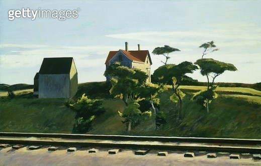 <b>Title</b> : New York, New Haven and Hartford, 1931 (oil on canvas)<br><b>Medium</b> : oil on canvas<br><b>Location</b> : Indianapolis Museum of Art, USA<br> - gettyimageskorea