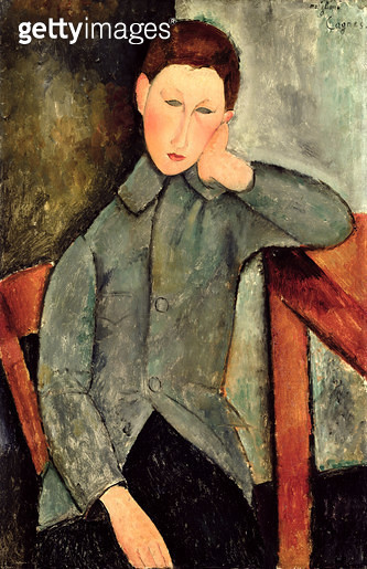 <b>Title</b> : The Boy, 1919 (oil on canvas)<br><b>Medium</b> : oil on canvas<br><b>Location</b> : Indianapolis Museum of Art, USA<br> - gettyimageskorea