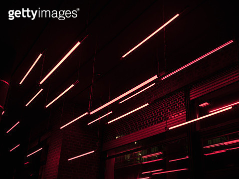 Low Angle View Of Illuminated Building At Night - gettyimageskorea